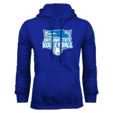 Royal Fleece Hood-Volleyball