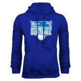 Royal Fleece Hood-Softball