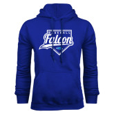 Royal Fleece Hood-Baseball Home Plate
