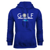 Royal Fleece Hood-Golf Underline