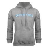 Grey Fleece Hoodie-Daytona State Arch