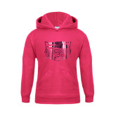 Youth Raspberry Fleece Hood-Official Logo