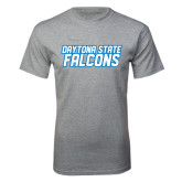 Grey T Shirt-Daytona State Falcons Stacked
