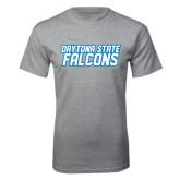 Grey T Shirt-Daytona State Falcons Stacked
