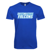 Next Level SoftStyle Royal T Shirt-Daytona State Falcons Stacked