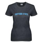 Ladies Dark Heather T Shirt-Daytona State Arch