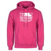 Fuchsia Fleece Hood-Official Logo