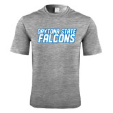 Performance Grey Heather Contender Tee-Daytona State Falcons Stacked