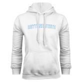 White Fleece Hoodie-Daytona State Arch