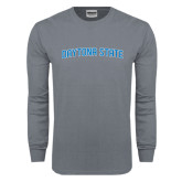 Charcoal Long Sleeve T Shirt-Daytona State Arch