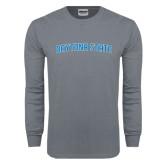 Charcoal Long Sleeve T Shirt-Daytona State Arch