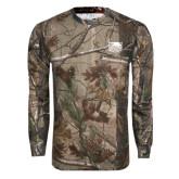 Realtree Camo Long Sleeve T Shirt w/Pocket-Official Logo Engraved