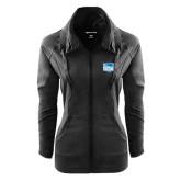 Ladies Sport Wick Stretch Full Zip Black Jacket-Official Logo