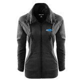Ladies Sport Wick Stretch Full Zip Black Jacket-Falcon