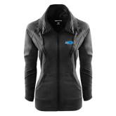 Ladies Sport Wick Stretch Full Zip Black Jacket-Falcon