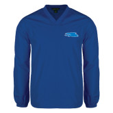 V Neck Royal Raglan Windshirt-Falcon