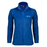 Ladies Fleece Full Zip Royal Jacket-Falcon