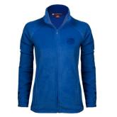 Ladies Fleece Full Zip Royal Jacket-Official Logo Engraved
