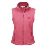 Ladies Fleece Full Zip Raspberry Vest-Official Logo Engraved