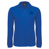 Fleece Full Zip Royal Jacket-Official Logo Engraved