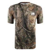 Realtree Camo T Shirt w/Pocket-Official Logo Embroidered