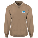 Khaki Executive Windshirt-Official Logo