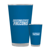 Full Color Glass 17oz-Daytona State Falcons Stacked