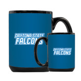 Full Color Black Mug 15oz-Daytona State Falcons Stacked