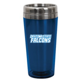Solano Acrylic Blue Tumbler 16oz-Daytona State Falcons Stacked