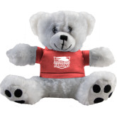 Plush Big Paw 8 1/2 inch White Bear w/Pink Shirt-Official Logo