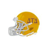 Riddell Replica Gold Mini Helmet-Greek Letters