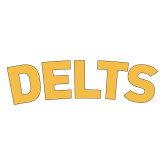 Medium Decal-Delts, 8 inches wide
