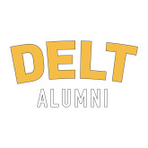 Alumni Decal-Delt Alumni, 6 inches wide