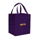 Non Woven Purple Grocery Tote-Delts