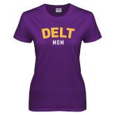 Ladies Purple T Shirt-Delt Mom