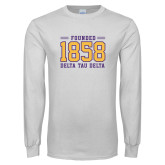 White Long Sleeve T Shirt-Founded 1858