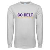 White Long Sleeve T Shirt-Go Delt