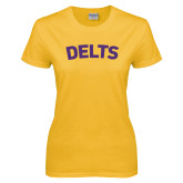 Ladies Gold T Shirt-Delts
