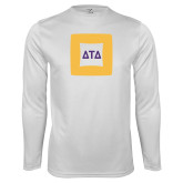 Performance White Longsleeve Shirt-Badge