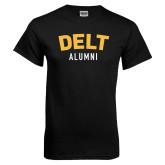 Black T Shirt-Delt Alumni