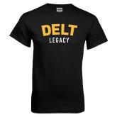Black T Shirt-Delt Legacy