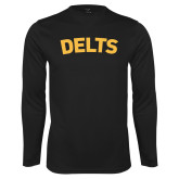 Performance Black Longsleeve Shirt-Delts