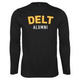 Syntrel Performance Black Longsleeve Shirt-Delt Alumni