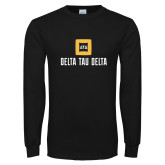 Black Long Sleeve T Shirt-Stacked Signature