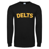 Black Long Sleeve T Shirt-Delts