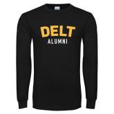 Black Long Sleeve T Shirt-Delt Alumni