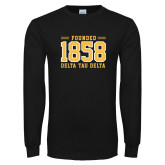 Black Long Sleeve T Shirt-Founded 1858