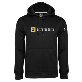 Under Armour Black Performance Sweats Team Hoodie-Horizontal Signature