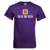 Purple T Shirt-Stacked Signature