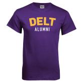 Purple T Shirt-Delt Alumni